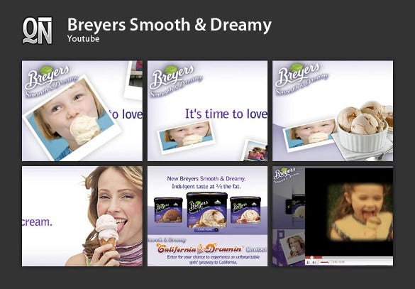 breyers youtube banner ad template
