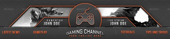gaming youtube banner ad template