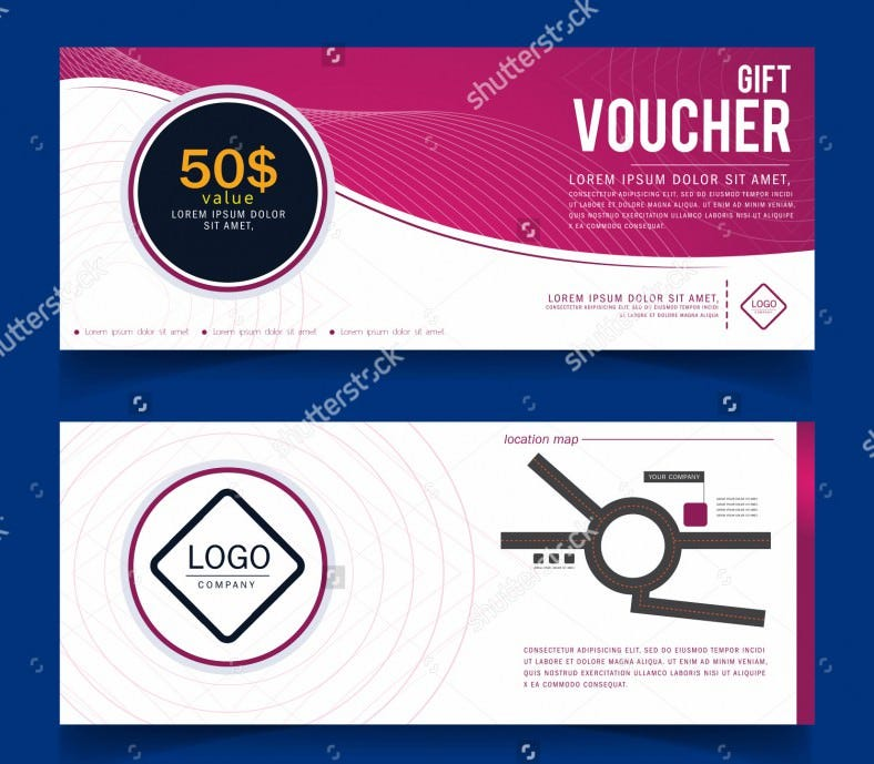 coupon design template with business logo 788x689