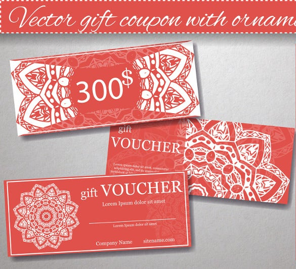 elegant coupon design template