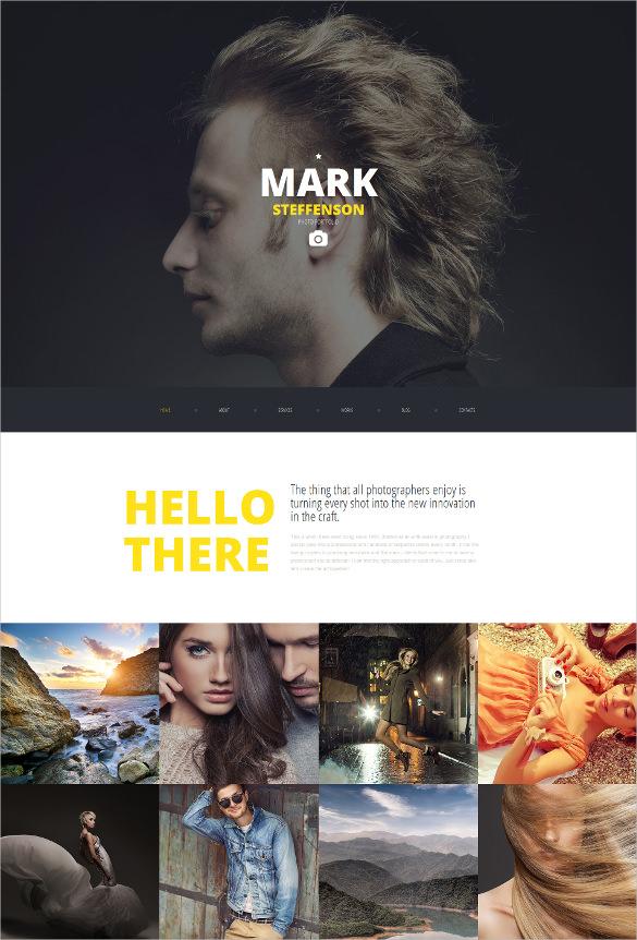 portfolio responsive parallax html5 moto cms 3 template