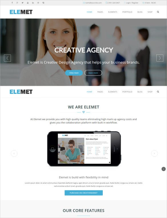 html5 parallax bootstrap template