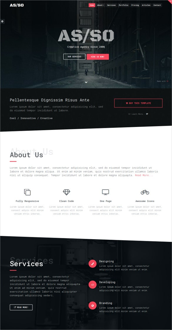 Best Parallax HTML Templates Free Premium Themes Free - One page website template html5 responsive free download