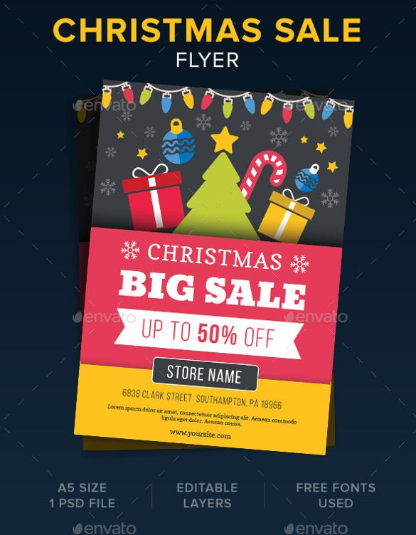 Christmas Discount Coupon Flyer Template  Coupon Flyer Template