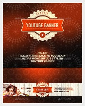 Classic Youtube Banner Art Template Download