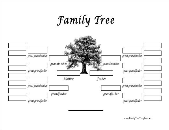 Family tree template 37 free printable word excel pdf psd free download simple family template pdf format pronofoot35fo Gallery