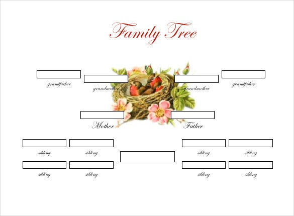 Blank Family Tree Template With Siblings Idealstalist