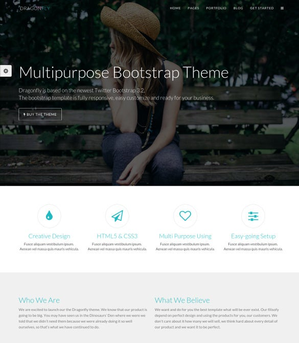 dragonfly responsive business theme