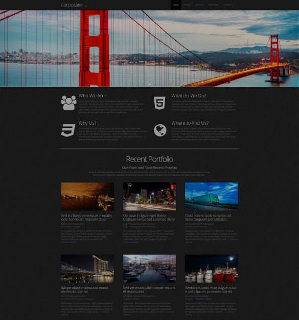 corporate x bootstrap 3 business theme