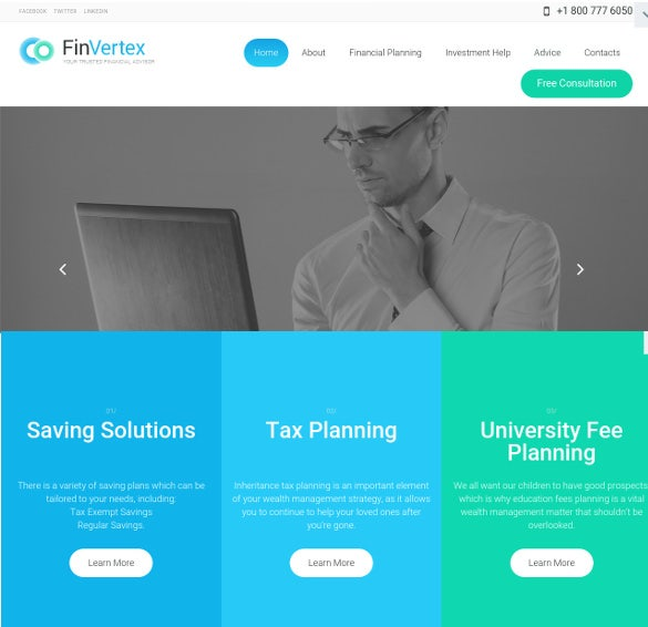 fin vertex bootstrap wordpress theme