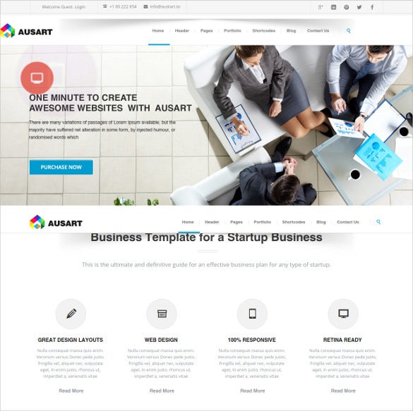 51 business bootstrap themes templates free premium templates ausart multipurpose business template accmission Gallery