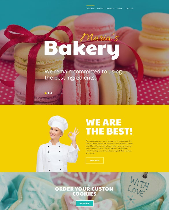 marias bakery website template