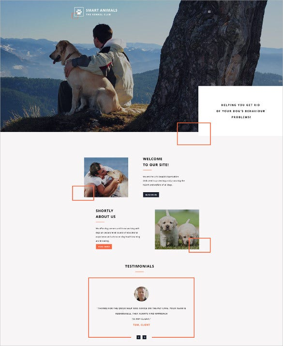 smart animals html5 website template