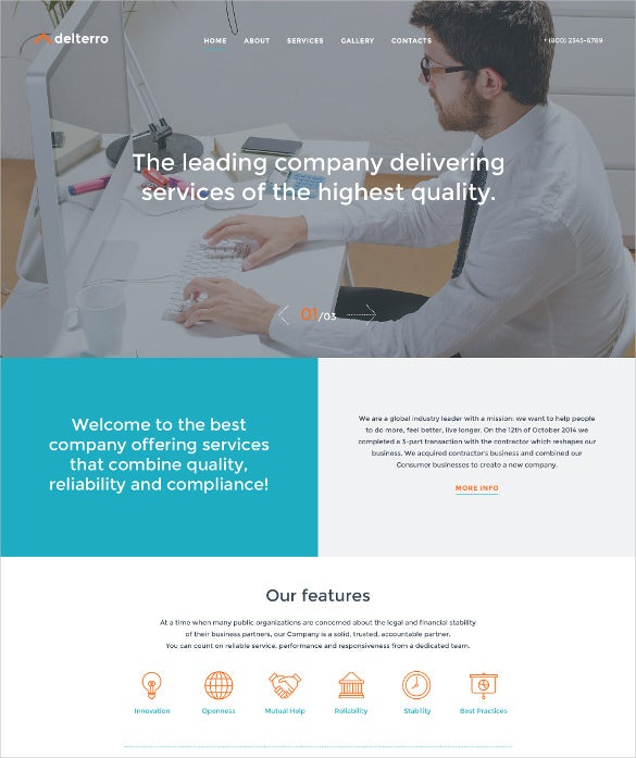 delterro html5 website template