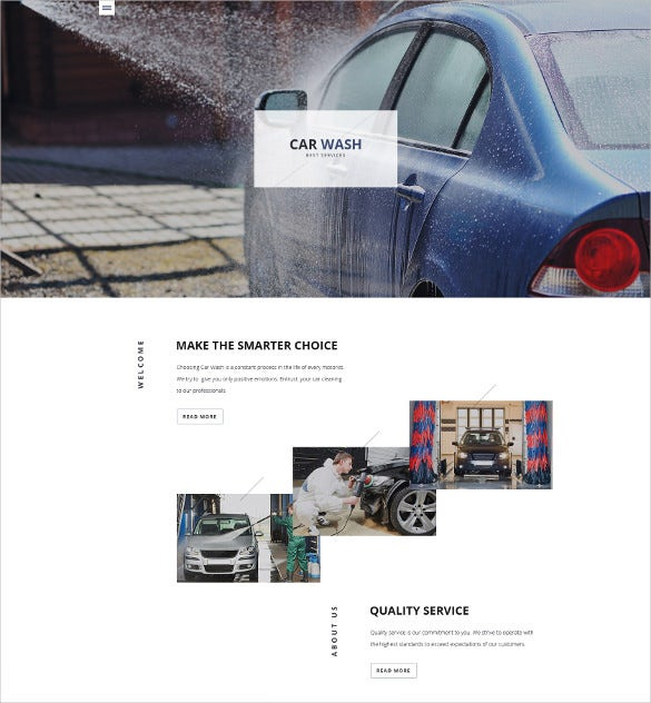 car wash responsive html5 website template