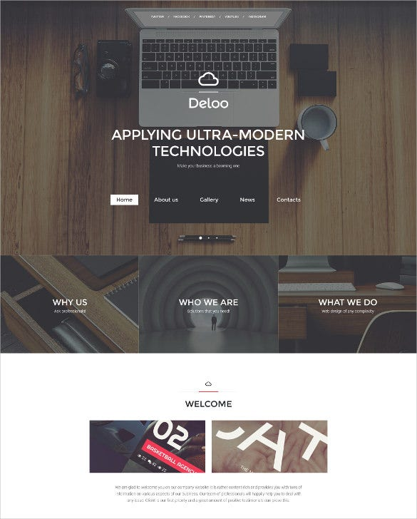 web design responsive website template