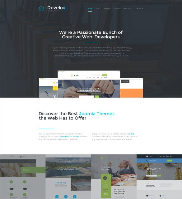 develox html5 website template