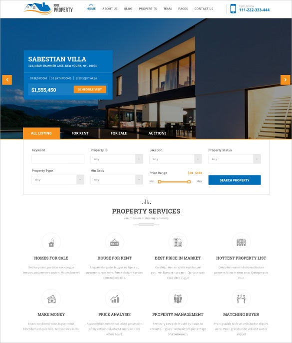 kodeproperty real estate multipurpose html5 theme