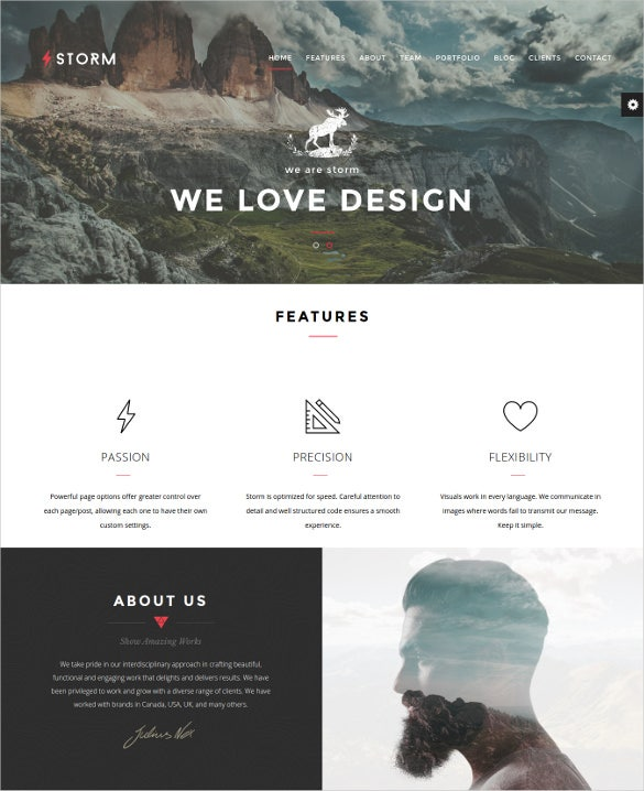 storm creative multi purpose wordpress theme