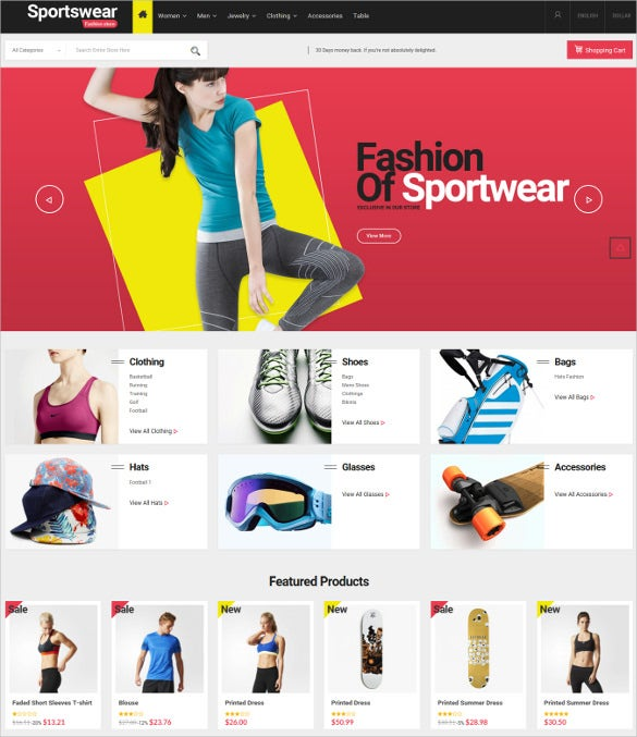 sportwear multi purpose responsive html5 prestashop theme