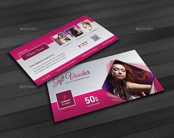 business coupon template for fashion industry