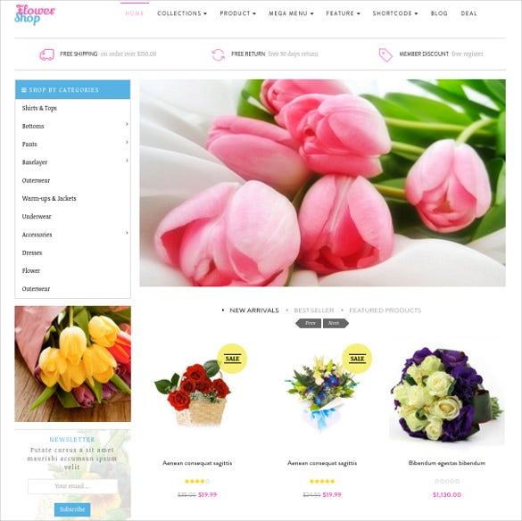 ap flower shop html5 shopify theme