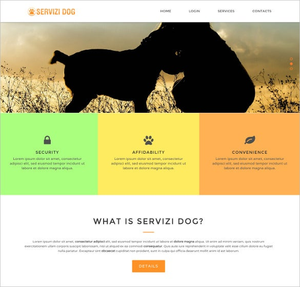dog services html5 template