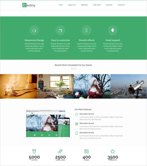 destiny responsive html5 template