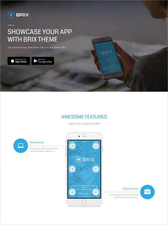 Mobile Landing Page Muse Template