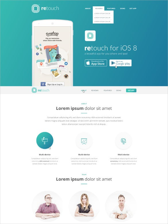 software service app html template