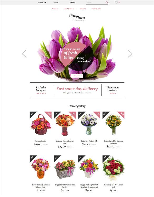 pink flora prestashop ecommerce theme
