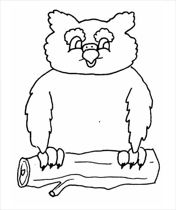chubby owl template