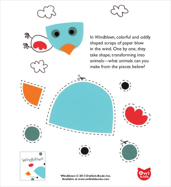 colorful oddly shaped owl free pdf template