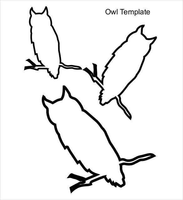 owl template free download pdf