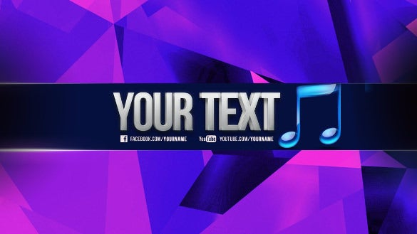 colorful free sample youtube banner template