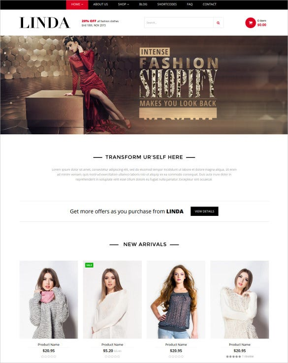 linda multipurpose ecommerce shopify theme
