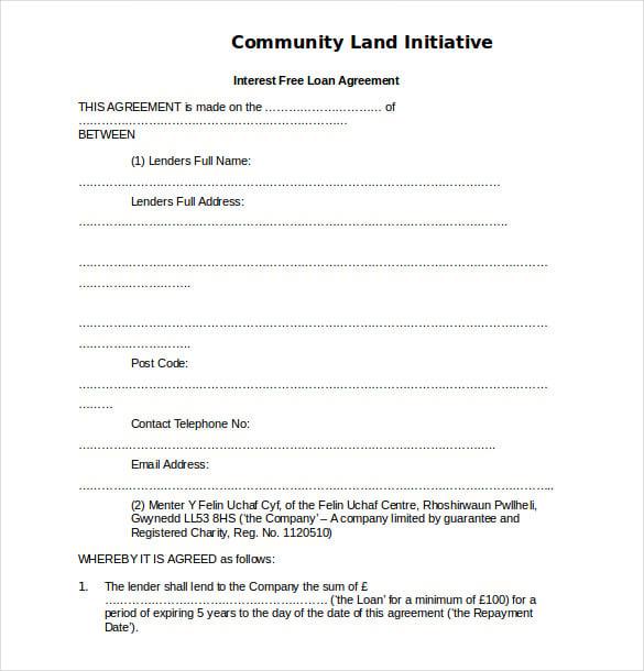 Loan Agreement Free Template
