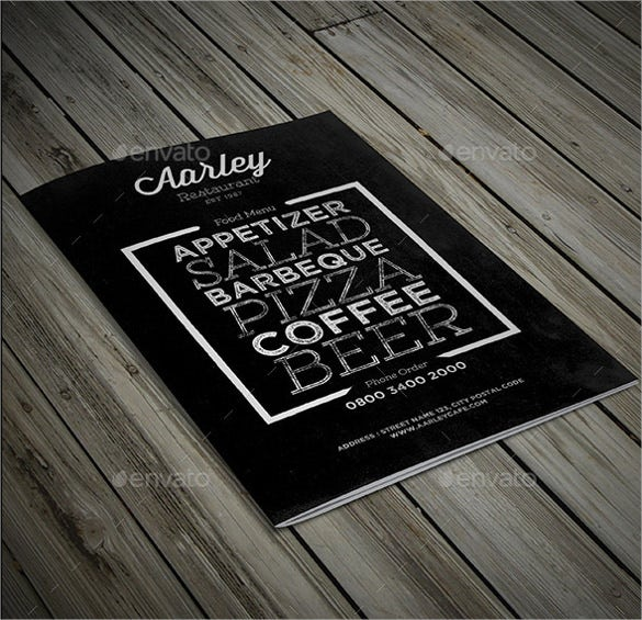bifold chalkboard menu template download
