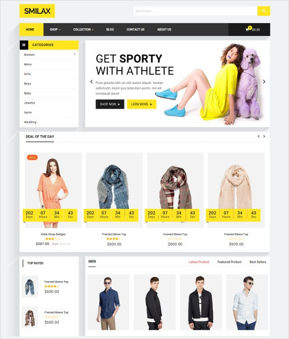 smilax multi purpose responsive ecommerce shopify theme