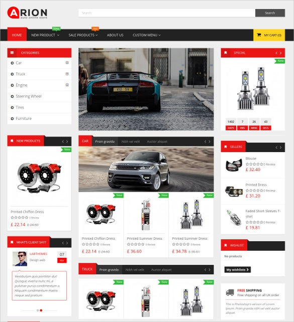 arion responsive ecommerce prestashop theme