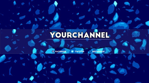 modern free sample youtube banner template