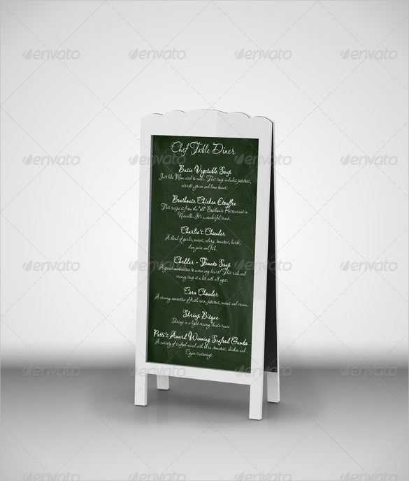 chef menu chalkboards mock up download
