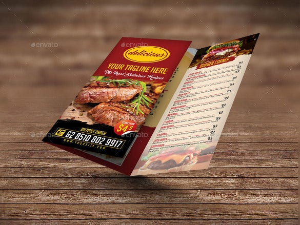 tri fold menu vector eps download