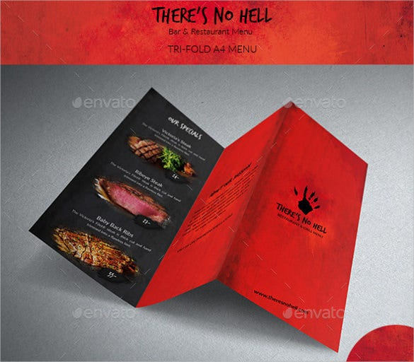 theres no hell tri fold menu template download