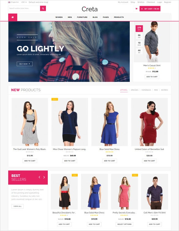 creta multipurpose woocommerce wordpress theme