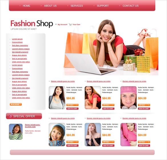 fashion clothe shep web template