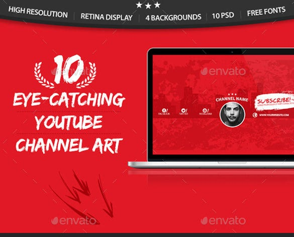 multipurpose sample youtube banner art template