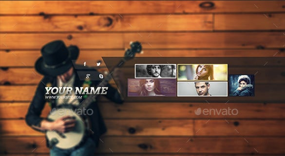 stylish sample youtube banner art template