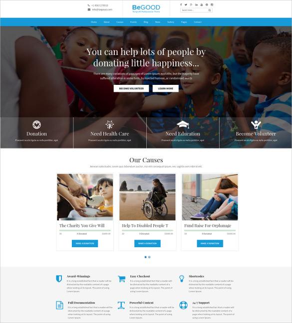 nonprofit multi purpose wordpress theme