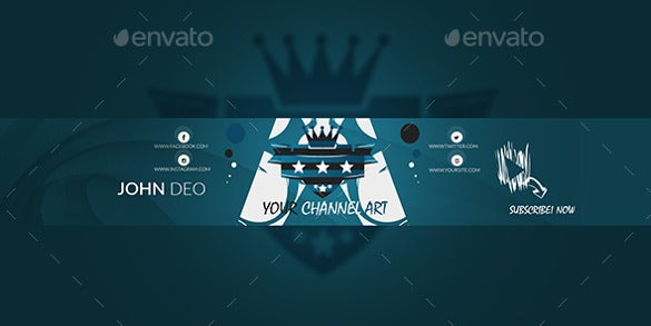 royal sample youtube banner art template